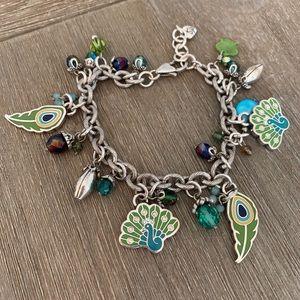 Brighton Peacock Charm Bracelet